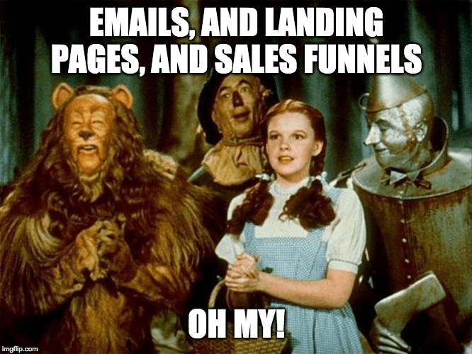 emails landing pages and sales funnels