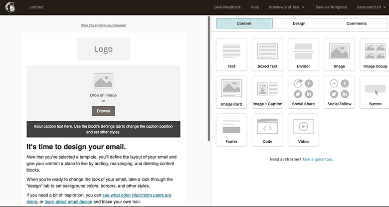 mailchimp has an easy to use editor