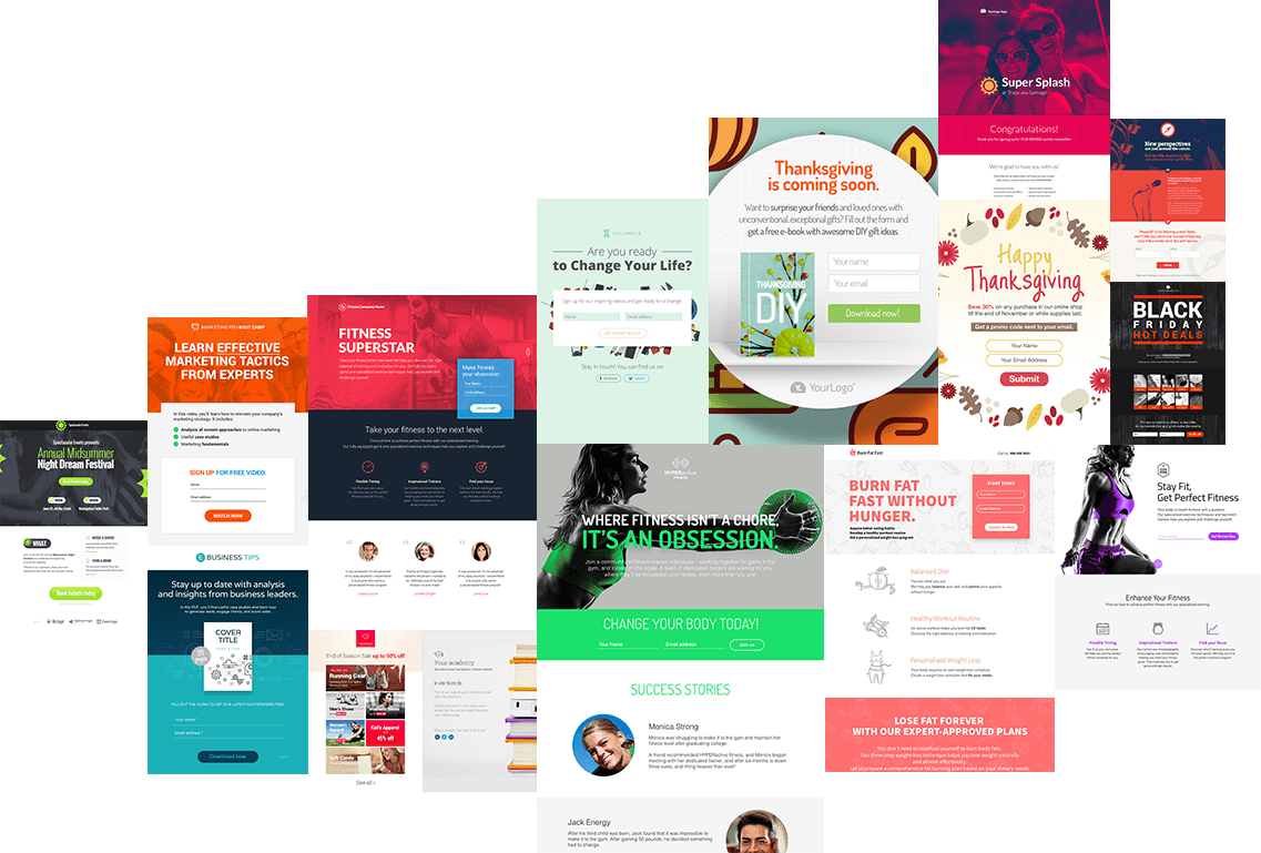 mobile responsive landing page templates