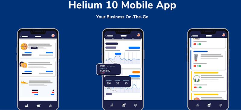Helium 10 mobile app launch