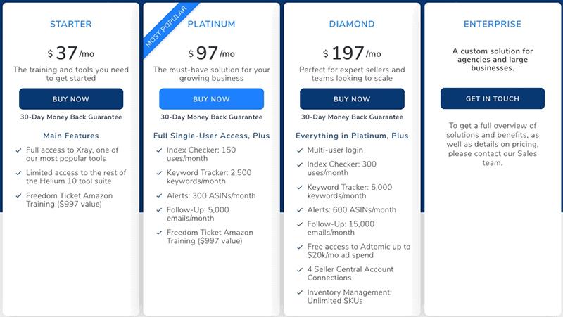helium 10 pricing update
