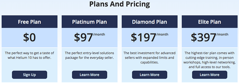helium10 pricing - is it worth the money?