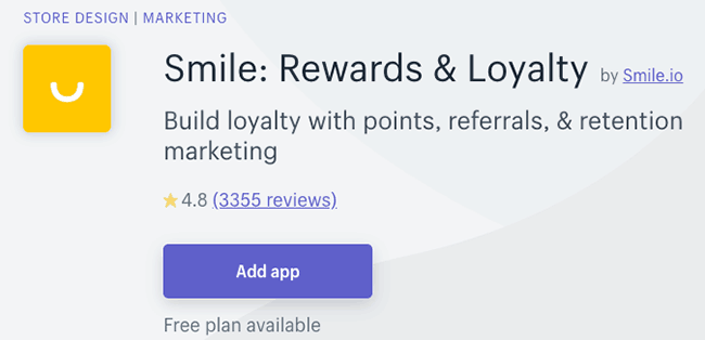 Best Affiliate and Loyalty Apps - Smile