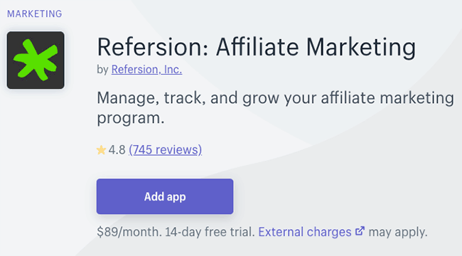 Best Affiliate and Loyalty Apps - refersion
