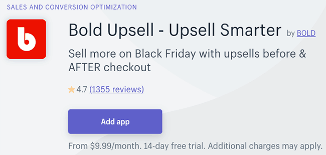 Best App for Upsells and Cross Sells - Bold