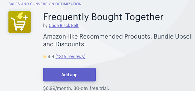 Best Bundle App - Frequently Bought Together