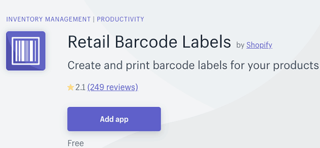 Best Inventory Management App - Retail Barcode Labels