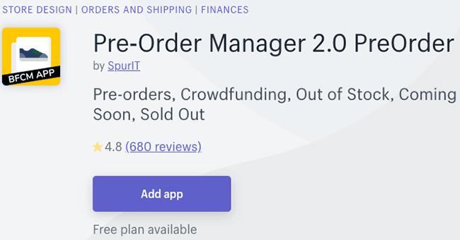 Best Pre Order App - pre-order manager 2.0