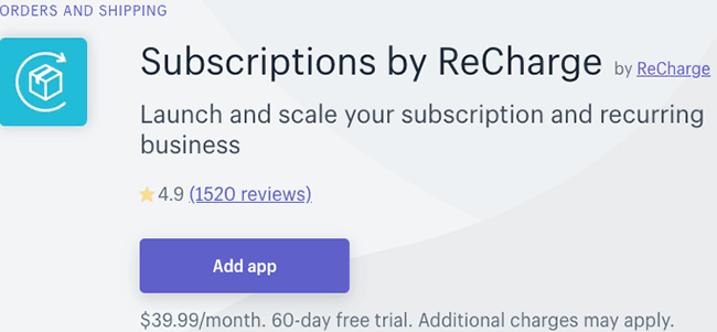 Best Subscription and Membership App - Recharge