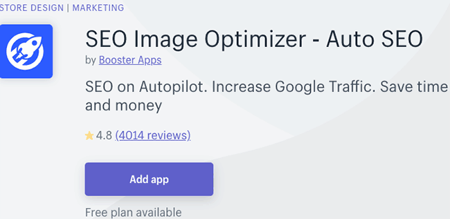 best seo apps for shopify - SEO image optimizer