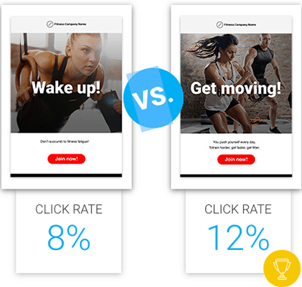 a/b testing email newsletters