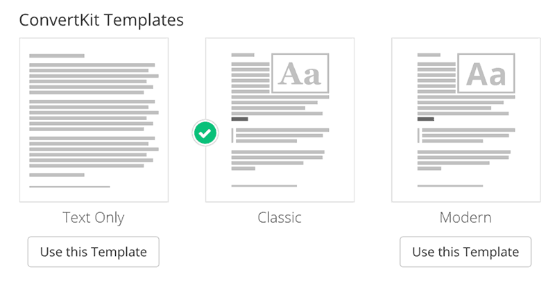 convertkit email templates