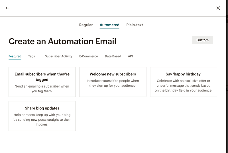 mailchimp email automation capabilities