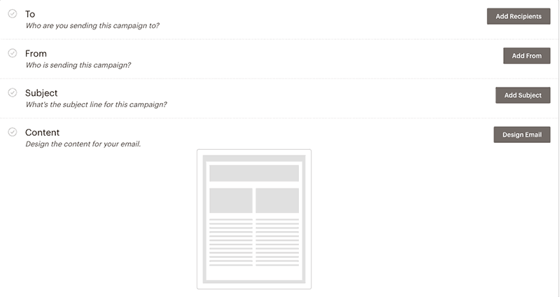 sending an email campaign with mailchimp