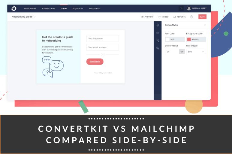 convertkit vs mailchimp reviews