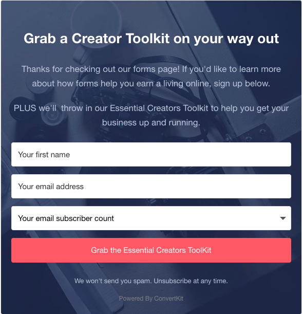 convertkit makes opt-in forms great again