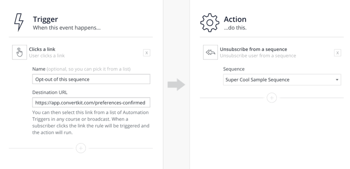 convertkit sends emails with triggers and actions