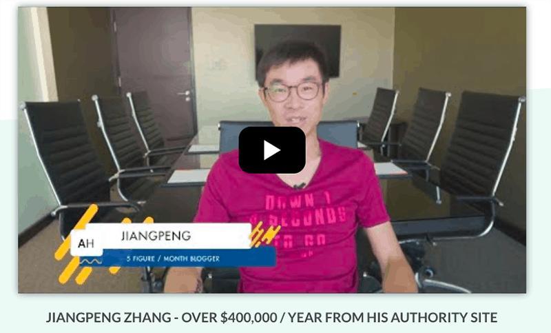 successful authority site testimonial