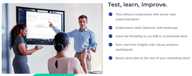 A/B testing of Instapage