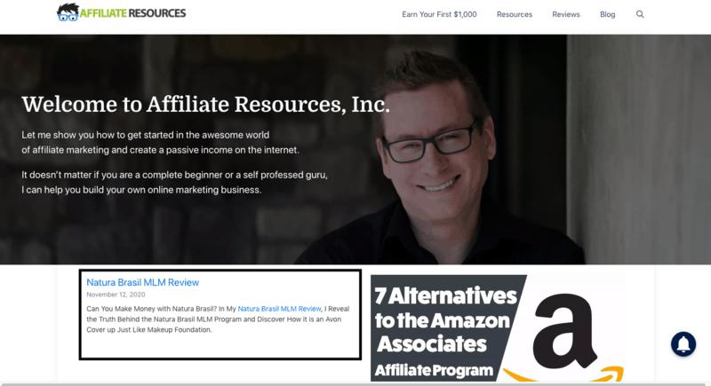 Affiliate Resources site