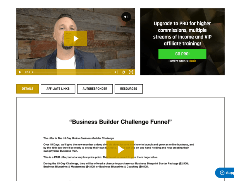 Business builder challenge funnel