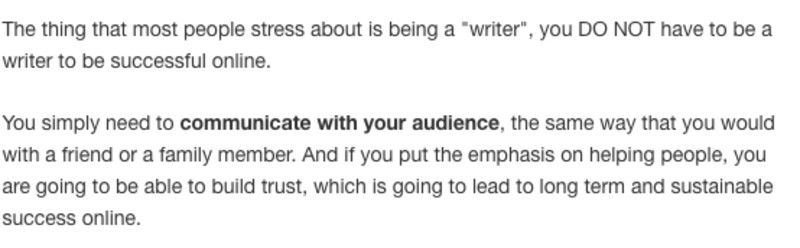 Communicate with your audience
