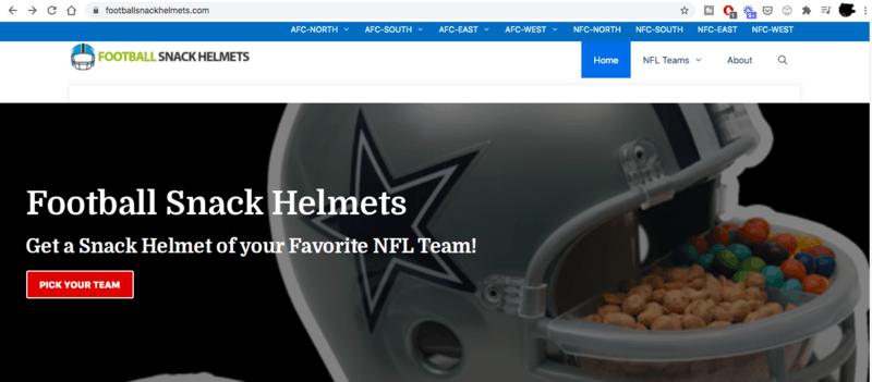 Football Snack Helmets