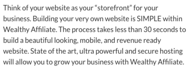 It takes 30 seconds to build a website