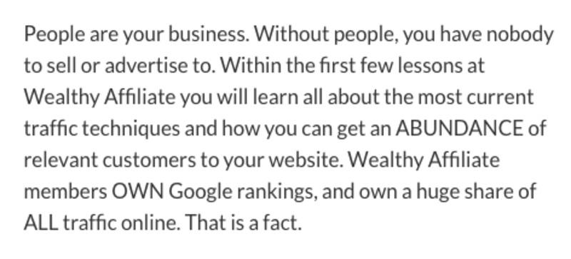 Wealthy affiliate members own Google rankings