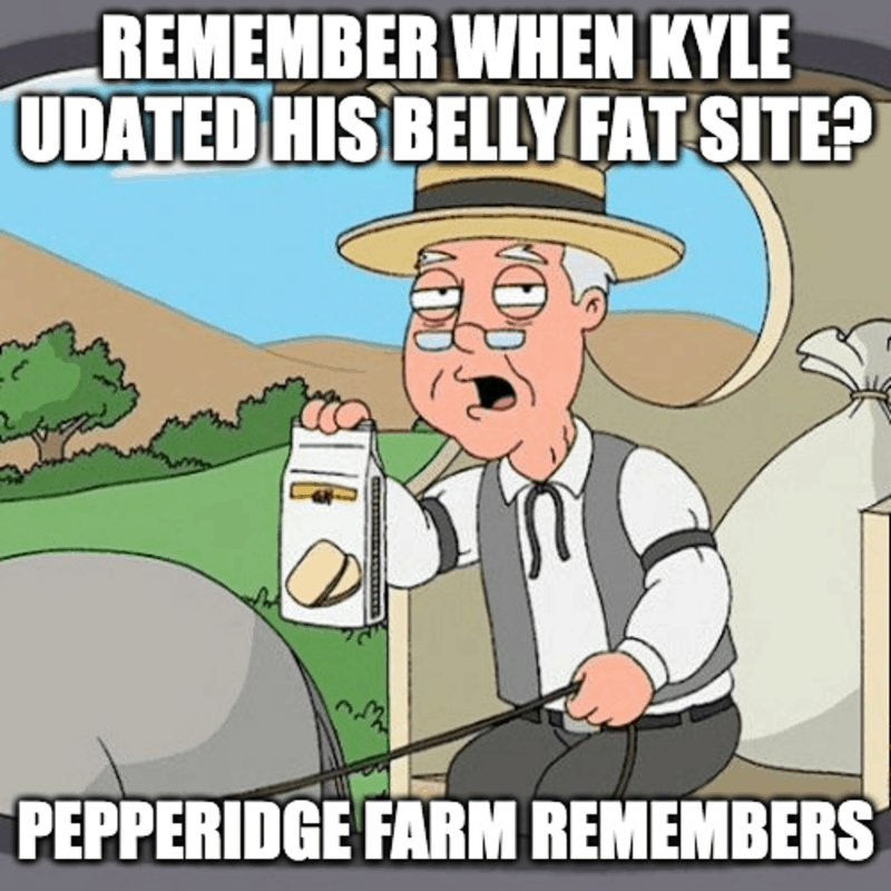 When Kyle updated his belly fat site?