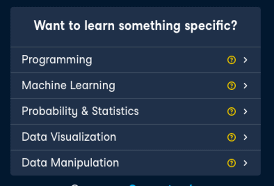DataCamp's UX- Courses