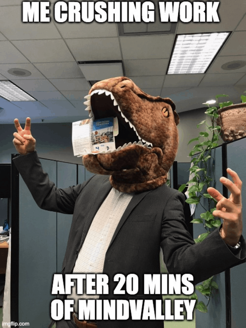 Only 20 minutes with Mindvalley makes me exciting at work