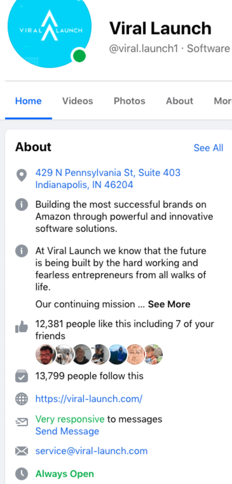 Viral Launch's Facebook Home