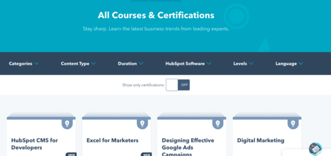 The Hubspot - All Courses and Certifications