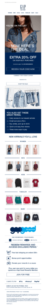 A newsletter from GapFactory