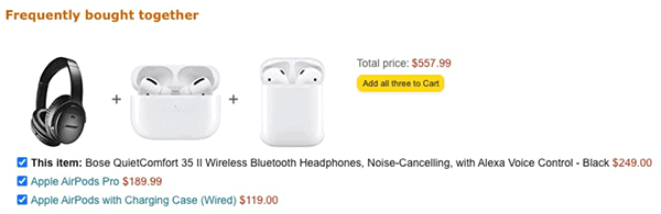 Cross-selling done right by Amazon