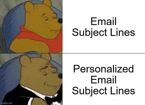 Email subject lines vs Personalized email subject lines