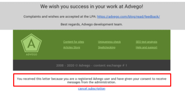 Remind your readers that they did actually sign up for email marketing